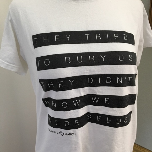 WOMENS MARCH Texas T-Shirt Bury Seeds